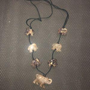 stone elephant necklace